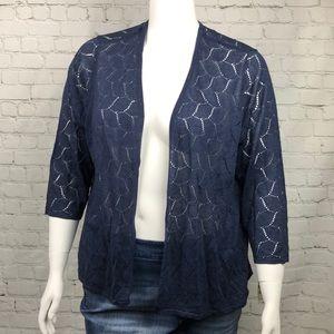 Charter Club Lightweight Navy Blue Sweater Size 3X